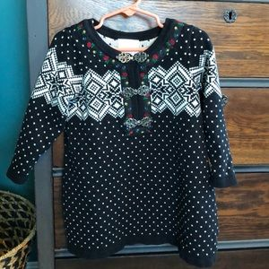 Hanna Andersson Cotton Sweater Dress Size 3T